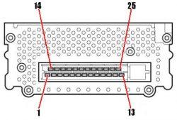 Steckerbelegung Vollaktivsystem Bose Subwoofer - A6 4B 1